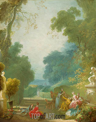 A Game of Hot Cockles, c.1767/73 | Fragonard| Gemälde Reproduktion