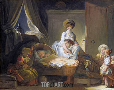 Fragonard | The Visit to the Nursery, c.1780/84