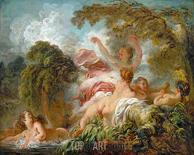 The Bathers, c.1765 | Fragonard | Gemälde Reproduktion