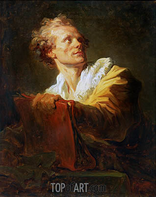 Portrait of a Young Artist, undated | Fragonard| Painting Reproduction