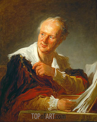Denis Diderot, c.1769 | Fragonard| Painting Reproduction