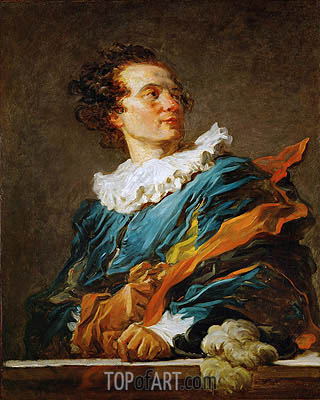 Figure of Fantasy: Portrait of the Abbot of Saint-Non, 1769 | Fragonard| Painting Reproduction