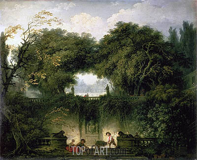 The Small Park (Garden of the Villa d'Este), c.1762/63 | Fragonard| Painting Reproduction
