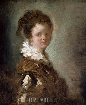 Young Woman, c.1769 | Fragonard| Painting Reproduction