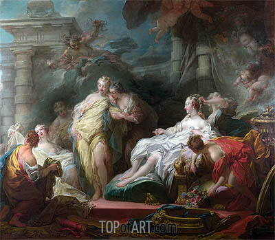 Psyche showing her Sisters her Gifts from Cupid, 1753 | Fragonard| Painting Reproduction