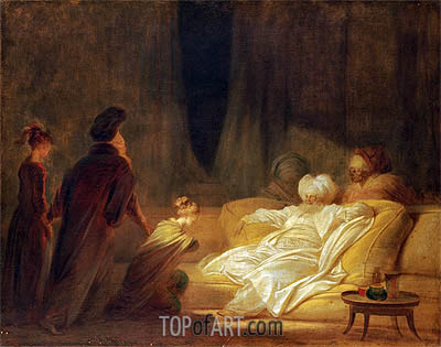 The Pasha, undated | Fragonard | Painting Reproduction