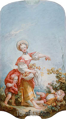 The Grape Gatherer, c.1748/52 | Fragonard| Gemälde Reproduktion