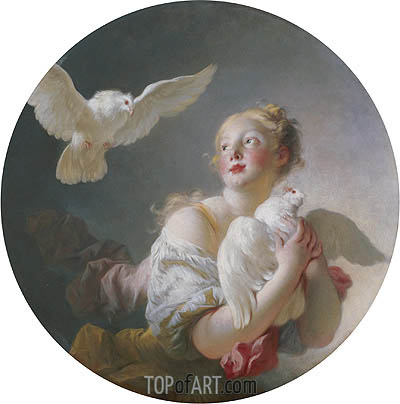Fragonard | Girl Holding a Dove, undated