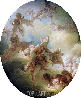 The Swarm of Cupids, c.1767 | Fragonard | Painting Reproduction