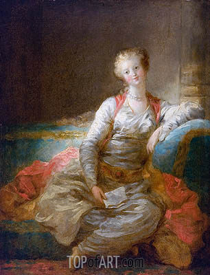 Sultana on an Ottoman, c.1772/76 | Fragonard| Painting Reproduction