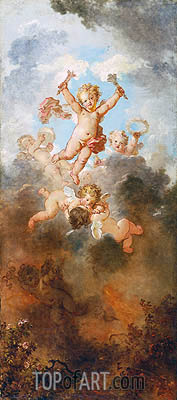 The Progress of Love: Love Triumphant, c.1790/91 | Fragonard | Gemälde Reproduktion