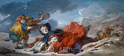 Winter, c.1755 | Fragonard| Painting Reproduction