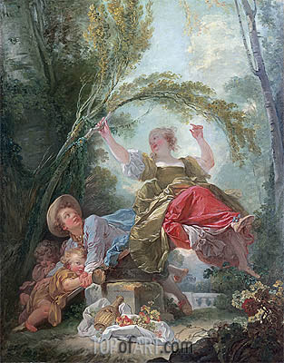 The See-Saw, c.1750/52 | Fragonard| Painting Reproduction