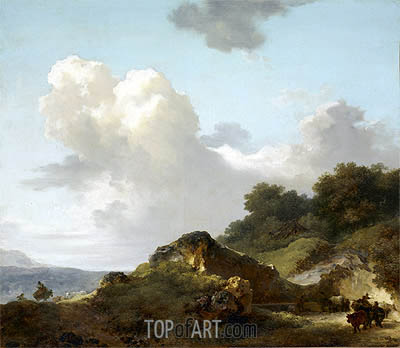 The Rock, c.1763/65 | Fragonard | Painting Reproduction
