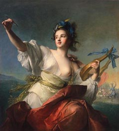 Terpsichore, Muse of Music and Dance, c.1739 by Jean-Marc Nattier | Painting Reproduction