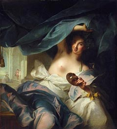 Thalia, Muse of Comedy, 1739 von Jean-Marc Nattier | Gemälde-Reproduktion