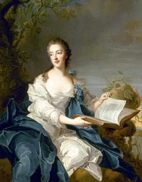 A Portrait of Princesse de Rohan, undated by Jean-Marc Nattier | Painting Reproduction