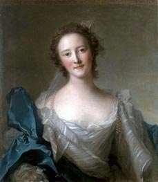 Portrait of Madame de Crozat de Thier, undated by Jean-Marc Nattier | Painting Reproduction