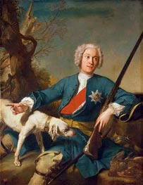 Portrait of Alexander Kurakin, 1728 by Jean-Marc Nattier | Painting Reproduction