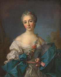 Portrait of a Lady, c.1750/60 by Jean-Marc Nattier | Painting Reproduction