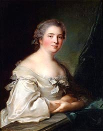 Portrait of a Lady Leaning on a Balustrade | Jean-Marc Nattier | Gemälde Reproduktion