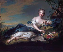 Portrait of Henrietta Maria of France as Flora | Jean-Marc Nattier | veraltet