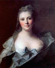 Portrait of Mademoiselle Marsollier | Jean-Marc Nattier | Gemälde Reproduktion