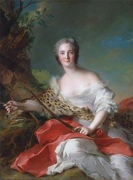 Portrait of Constance Gabrielle Magdeleine Bonnier de la Mosson as Diana | Jean-Marc Nattier | Gemälde Reproduktion