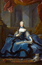 Madame Adelaide daughter of Louis XV holding a Book of Music | Jean-Marc Nattier | Gemälde Reproduktion