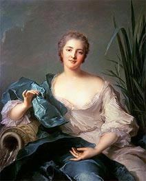 Madame Marie-Henriette Berthelot de Pleneuf, 1739 by Jean-Marc Nattier | Painting Reproduction