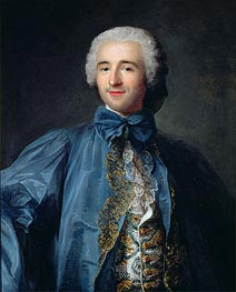 Portrait of a Gentleman in a Blue Coat | Jean-Marc Nattier | Gemälde Reproduktion