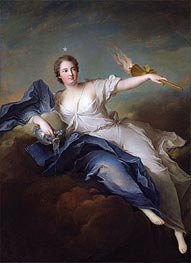 Portrait of Marie-Anne de Mailly-Nesle Marquise of La Tournelle as Eos, a.1740 by Jean-Marc Nattier | Painting Reproduction