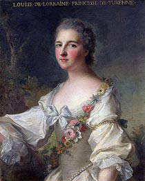 Louise-Henriette-Gabrielle de Lorraine Princess of Turenne and Duchess of Bouillon, 1746 by Jean-Marc Nattier | Painting Reproduction