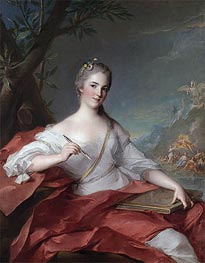 Marie-Geneviève Boudrey as a Muse, 1752 by Jean-Marc Nattier | Painting Reproduction