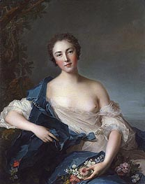Portrait of a Woman as Flora | Jean-Marc Nattier | Gemälde Reproduktion