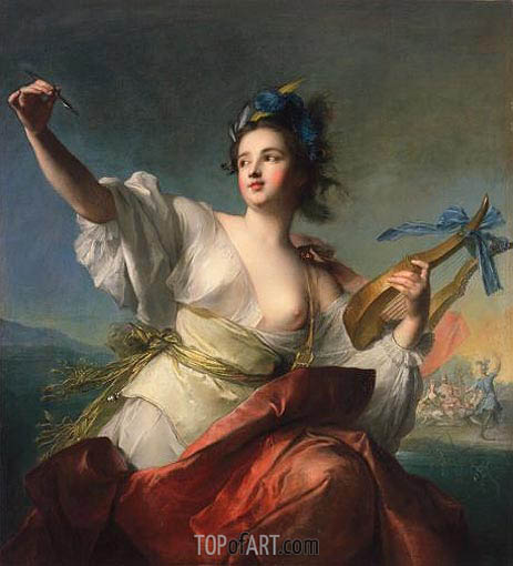 Terpsichore, Muse of Music and Dance, c.1739 | Jean-Marc Nattier| Painting Reproduction