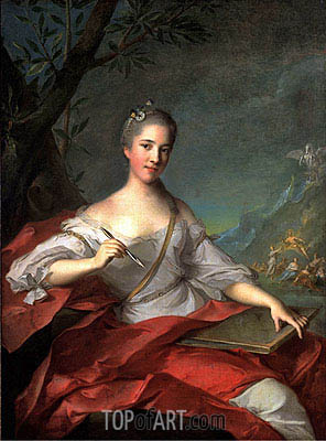 Jean-Marc Nattier | Madame Boudrey as a Muse, 1752