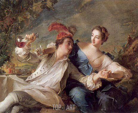 The Alliance of Love and Wine, 1744 | Jean-Marc Nattier| Painting Reproduction