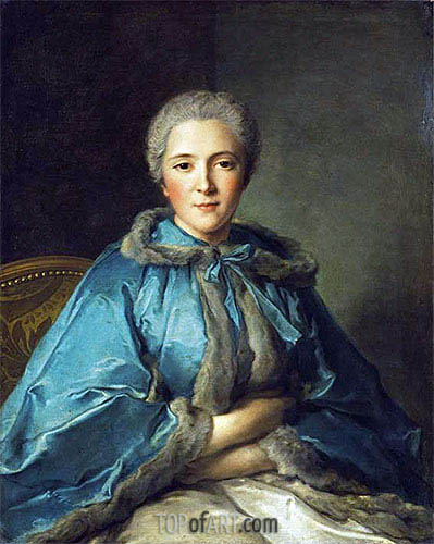 The Comtesse de Tillieres, 1750 | Jean-Marc Nattier| Painting Reproduction