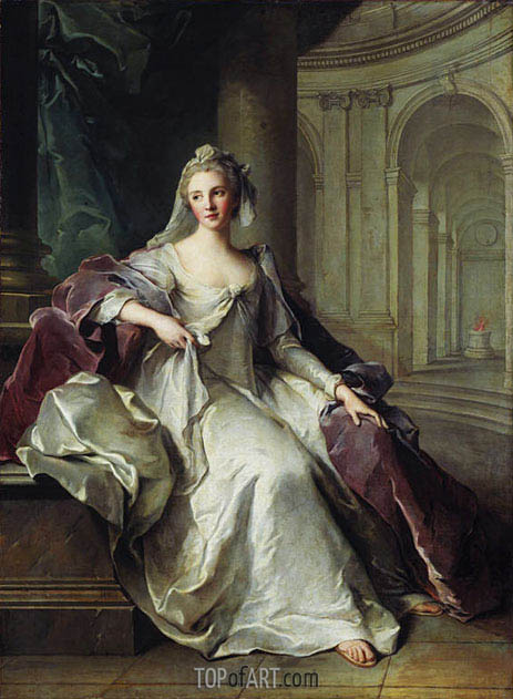 Portrait of Madame Henriette de France as a Vestal Virgin, c.1749 | Jean-Marc Nattier| Painting Reproduction