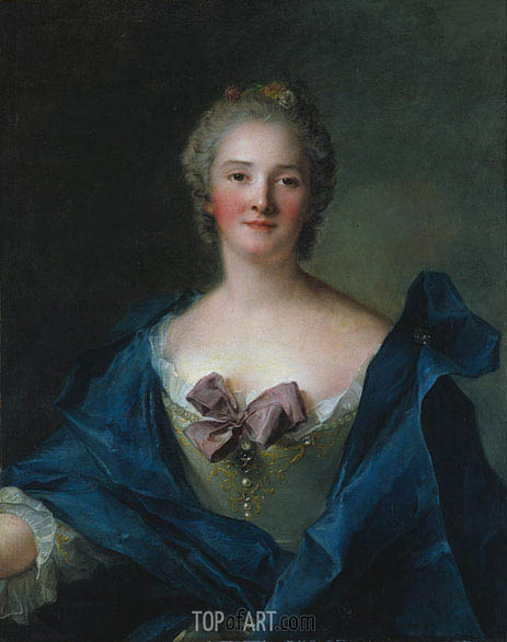 Portrait of a Woman, c.1748 | Jean-Marc Nattier| Gemälde Reproduktion