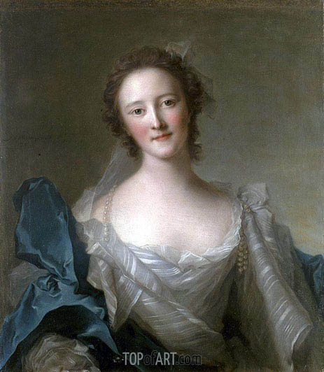 Portrait of Madame de Crozat de Thier, undated | Jean-Marc Nattier | Gemälde Reproduktion
