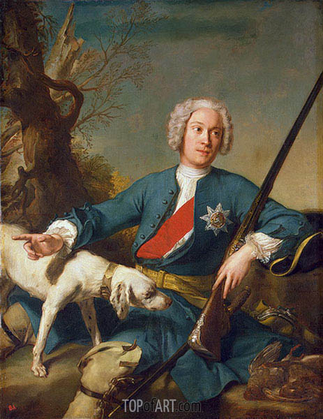 Portrait of Alexander Kurakin, 1728 | Jean-Marc Nattier | Painting Reproduction