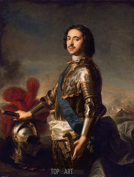 Portrait of Peter I, undated | Jean-Marc Nattier| Painting Reproduction