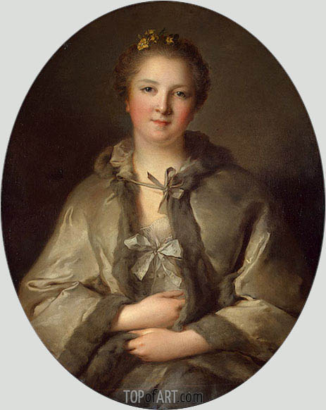 Jean-Marc Nattier | Portrait of a Woman in Grey, undated
