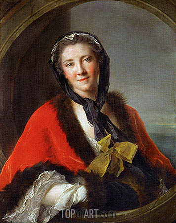 The Countess Tessin Wife of the Swedish Ambassador in Paris, 1741 | Jean-Marc Nattier | Painting Reproduction