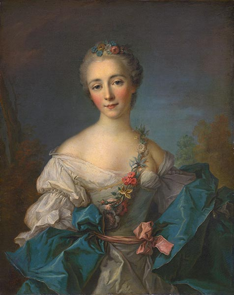 Portrait of a Lady, c.1750/60 | Jean-Marc Nattier| Painting Reproduction