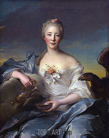 Madame de Caumartin as Hebe, 1753 | Jean-Marc Nattier | Gemälde Reproduktion