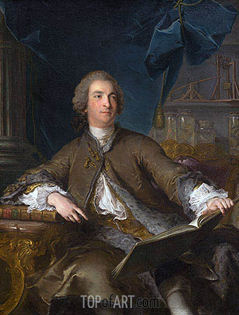 Portrait of Joseph Bonnier de la Mosson, 1745 | Jean-Marc Nattier | Gemälde Reproduktion