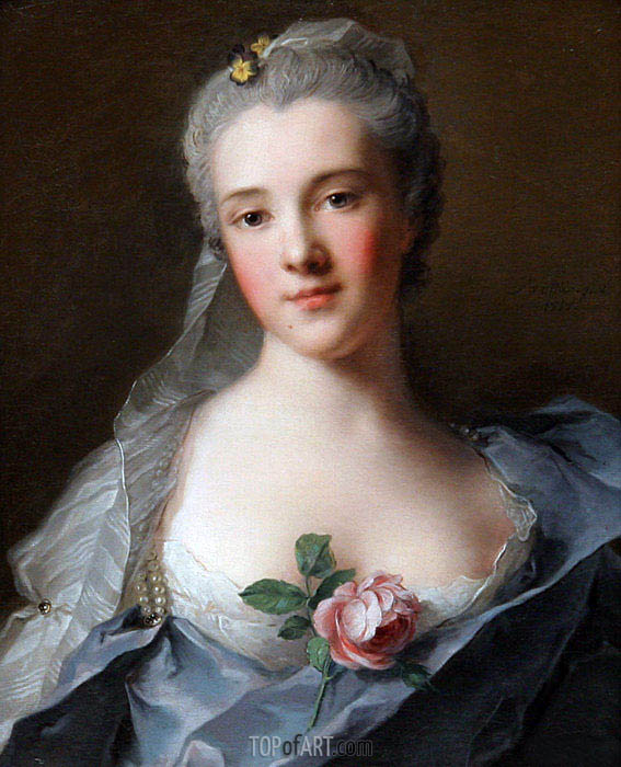 Manon Balletti, 1757 | Jean-Marc Nattier | Painting Reproduction